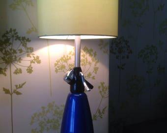 Vintage soda syphon table lamp