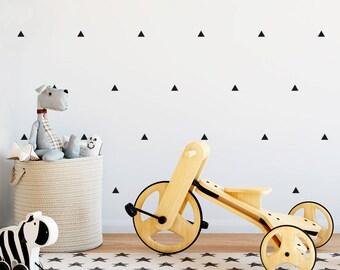 Vinyl child - Little triangles - Mini removable decorative vinyl of triangles