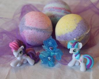 My Little Pony themed Bath Bomb Fizzie (2-4 Colors)