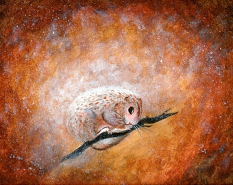PRINT of my original painting of a flying squirrel