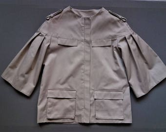 Cotton-gabardine jacket