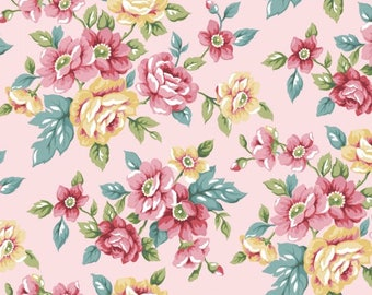 """Winterfleece Rose Floral Fabric from Windham, Fleece Fabric, Winterfleece Fabric, FloralFleeceFabric, Kids Fleece Fabric, Polyester, 58""""/60"""""""