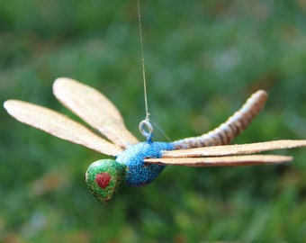 Dragonfly Ornament, Wood Carving