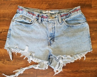 Vintage Tommy Hilfiger Distressed Cutoff Denim Shorts