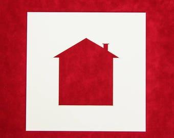 Photo Mount - 5 PACK | House Shape Aperture - 12x12 - 10x10 - 8X8 - 7x7 - 6x6 | Photo Frame | Photo Mounts | Picture Frame