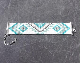 Cuff Bracelet with Miyuki beads