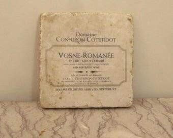vintage wine label ceramic tile