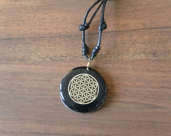 Sacred Geometry Necklace, Flower of Life Orgone Necklace