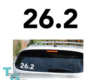 26.2 Marathon Vinyl Decal - Marathon Decal - Marathon Runner Decal -262 Decal - Marathon Car Decal Vinyl Decal - Runner Laptop Decal