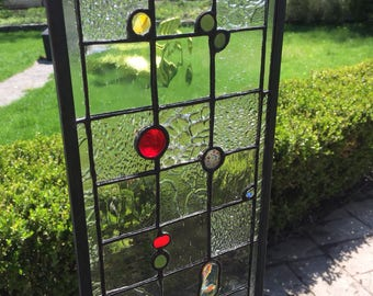 Stained Glass abstract suncatcher / window panel