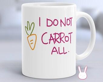 Carrot - Bunny - Baby Bunny - Rabbit - Bunny Mug - Rabbit Mug - Rabbit Coffee Cup - Funny Bunny Mug - Funny Rabbit Mug - Bunny Lover Gift