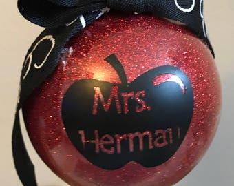 Custom Personalized Teacher Ornaments
