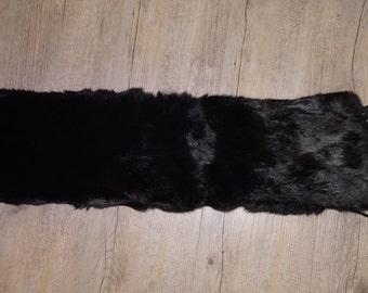 Repurposed Black Fur Scarf