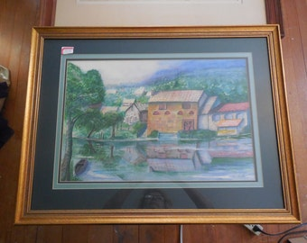 Watercolor on board by Lee Hicks done  mid 20th century