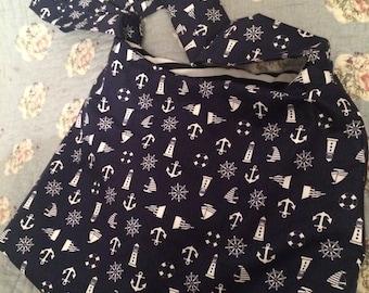 Nautical fabric handbag