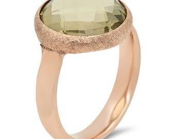 14 kt rose gold ring