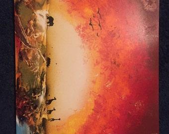 African Landscape Spray paint & Acrylic