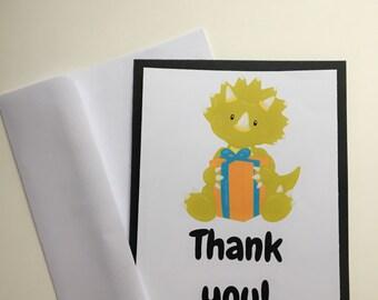 Dinosaur Birthday thank you card, dinosaur thank you card, thank you, birthday thank you, dinosaur birthday party,  dinosaur, party supplies