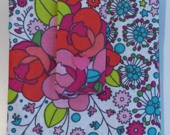 """Sac dans le sac """"Motif floral"""" - zéro déchet - zero waste - upcycling"""