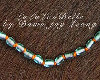 Vintage Venetian glass bead necklace
