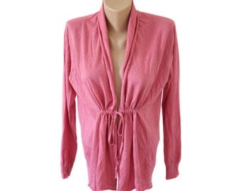 Vintage women top blouse pink SILK and CASHMERE