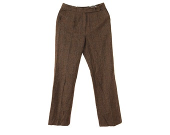 Vintage Mark women pants brown checked 100% wool