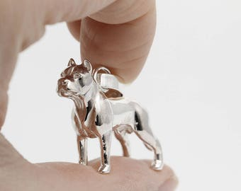 Vakkancs Dogo Argentino pendant (solid sterling silver, 3D)