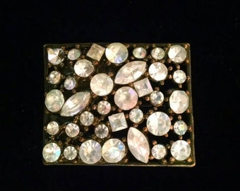 Vintage Rhinestone Brooch, Pin, Jewelry