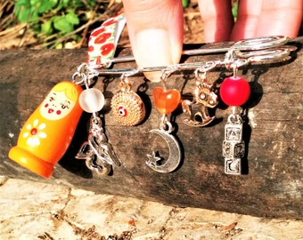 Newborn/ New Baby/ New Mom/ Safety Pin/ Gift/ Matryoshka doll/ Evil Eye/ Angel/ Rocking Horse/ Crescent Moon with Star/ Letters Cubes/