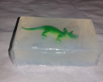 TRICERATOPS inside Glycerin Soap Bar