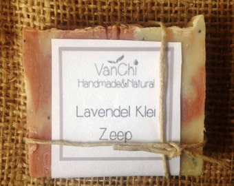 Handmade Lavender Clay Soap Natural-Vegan-Palm free-Synthetic Free-Toxin Free-Plastic Free-Waste Free-Only Natural