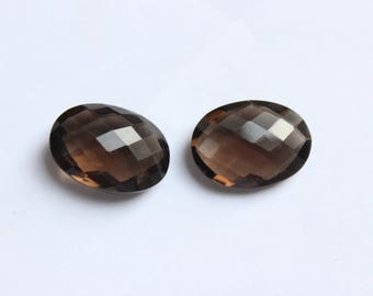 Natural Smoky Quartz faceted oval shape Gemstone all size available 4x6 5x7 6x8 7x9 8x10 9x11 10x12 10x14 12x16 13x18 15x20 16x22 18x25