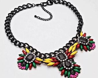 Multicolored Fashion Charm Necklace