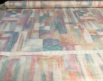 "Vintage - ""Glassworks"" pastel mosaic fabric from DI Lewis Studios"