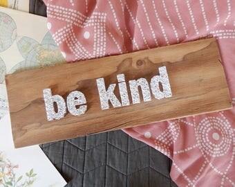 be kind string art
