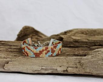 Bracelet, cuff of beads Miyuki 11/0
