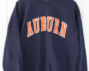 90's Vintage AUBURN UNIVERSITY Sweatshirt Auburn Alabama Tigers SEC Size Medium