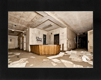"""Custom Matted Print 0303. Abandoned: Marlboro State Mental Hospital, NJ. """"Entryway"""" - Collectable Photographic Artwork. (11"""" x 14"""")"""