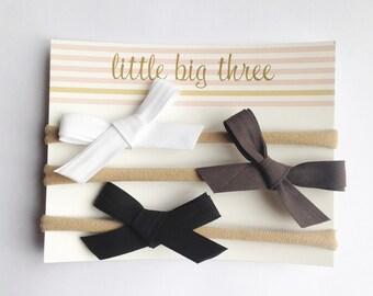 Darling Schoolgirl Fabric Bow - 3 for 10