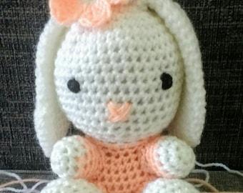 Rosie the amigurumi bunny