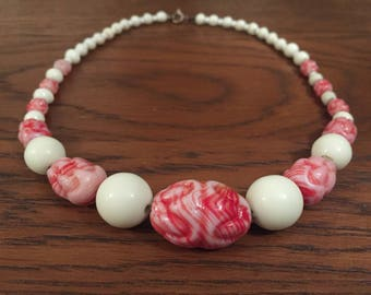 Vintage beaded choker necklace c. 1940s