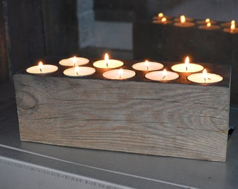 Natural Wood Candle Holder