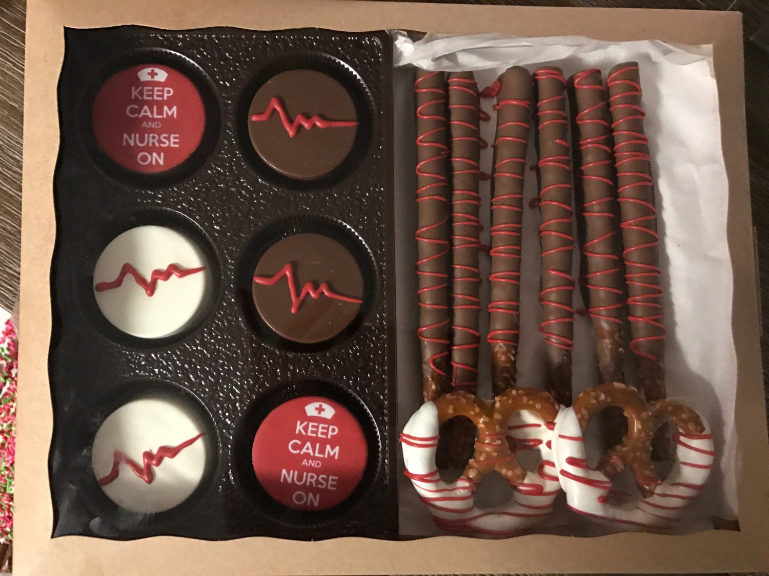 Nurse Gift Gourmet Chocolate Covered Pretzels Oreos Gift Box Nurse Doctor thank you gift