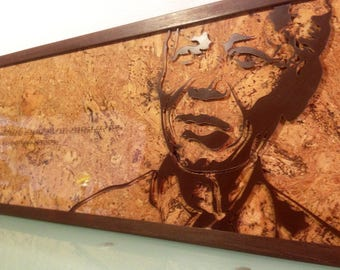 Decorative frame (wood/glass/Cork)