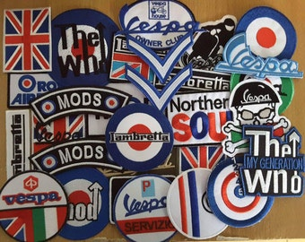 Wholesale lot of 30 Scooter MOD generation patches