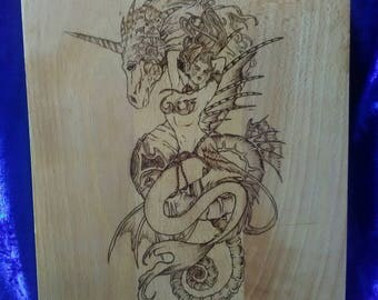 Mermaid & Seahorse cutting / serving board