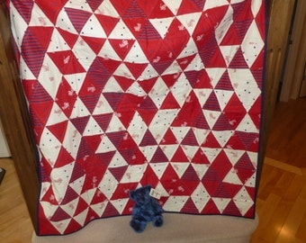 Red Wagons Children's Quilt