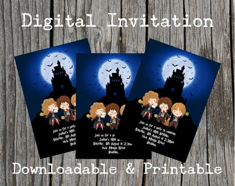 Harry Potter Inspired Party Invites. Download and Printable