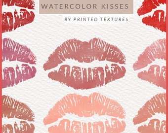 Watercolor Lips Clipart, Lips Clipart, Lips Clip Art, Kiss Clipart, Watercolor Lips Clip Art, Lipsense Clipart, Free Commercial Use, PNG