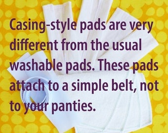 Sample Kit -Cloth menstrual pads – Washable, Reusable - Casing Style - Hemp and Organic Cotton